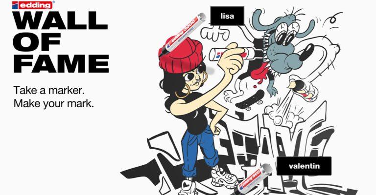 """edding startet mit """"edding Wall of Fame"""" 2.0 neue digitale Plattform für Kunst, Ausdruck und Inspiration"""