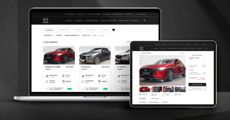 "Mazda: Relaunch of the digital platform ""FindMyMazda"