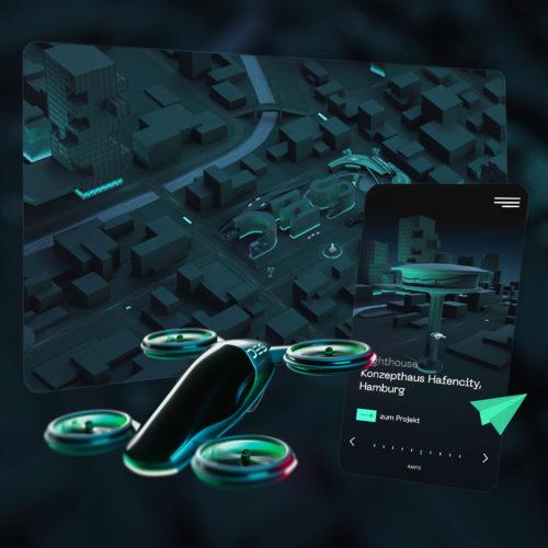 DES Einzigartige 3D Portfolio Website