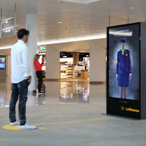 Lufthansa Motion-Based Kinect Installation