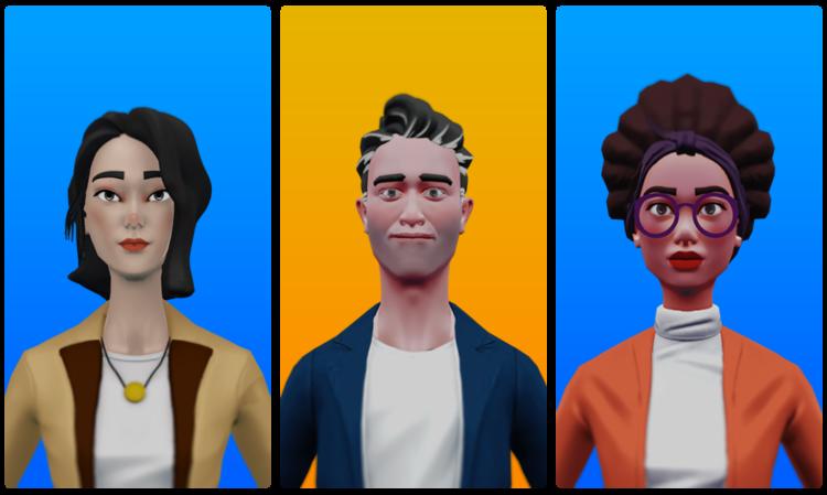 Characters headshot all small