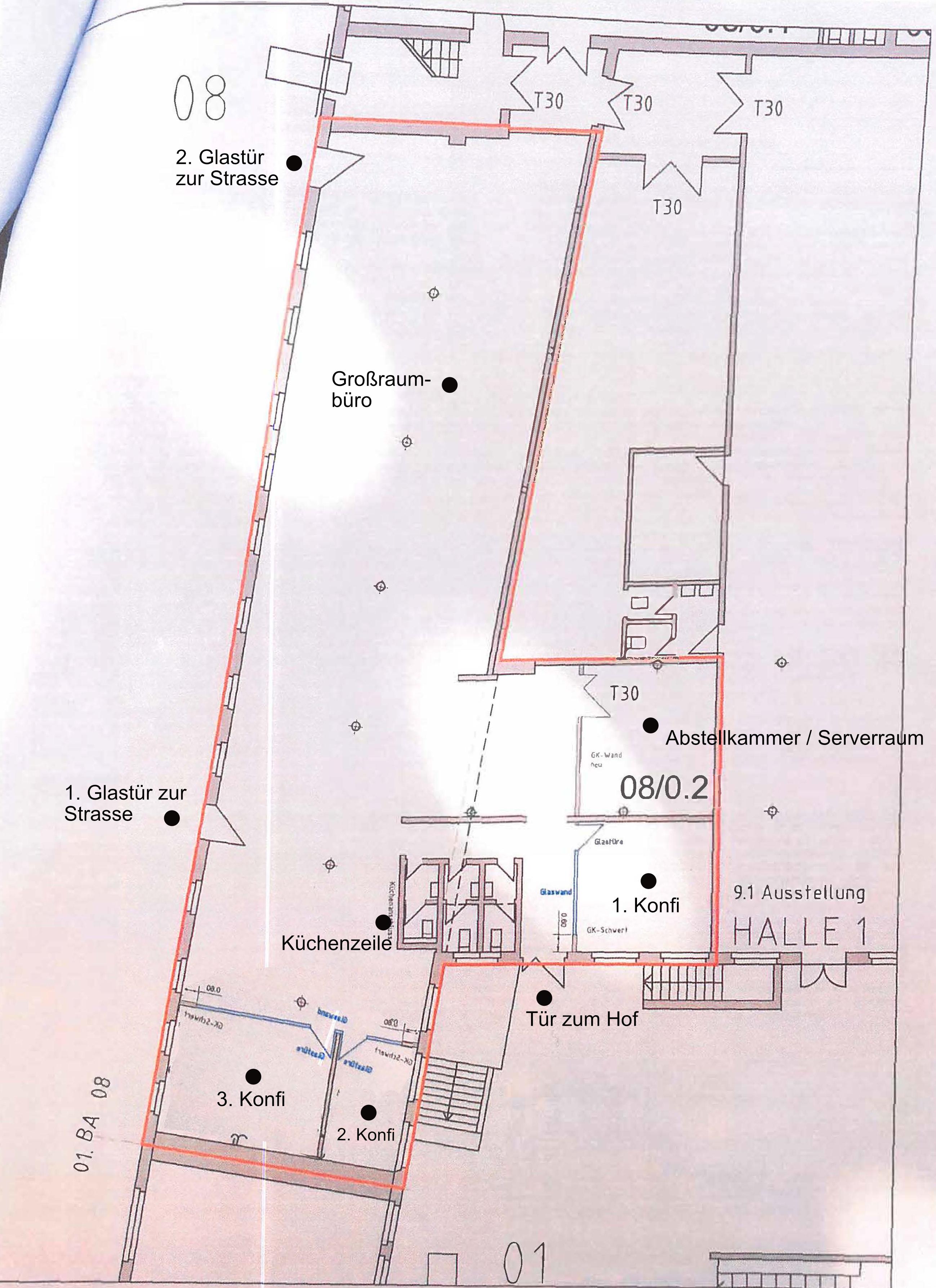 Grundrissplan Offenbach HEYNE FABRIK