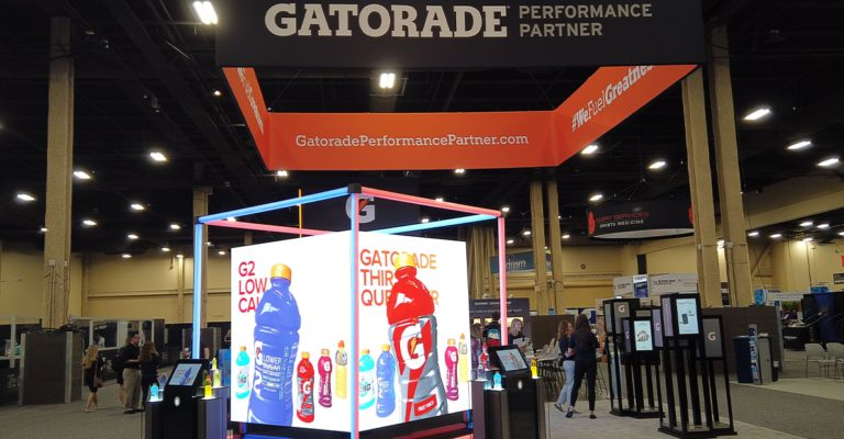 Gatorade at NATA 2019: Hypeboxes and the hydration cube meet Las Vegas