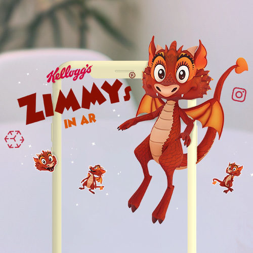 KELLOGG'S Zimmys® Augmented Reality Character and Instagram Filter